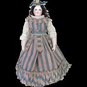 Charming silk spring dress for Huret or other poupee enfantine