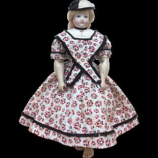 Charming summer dress for Huret or similar enfantine fashion doll
