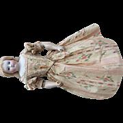Magnificent antique silk party dress for Huret, Rohmer or other poupee enfantine