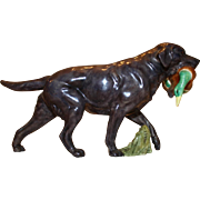 Vintage Ceramic Royal Worcester Black Labrador - Sporting Dogs Collection - RW3312 - Red Tag Sale Item