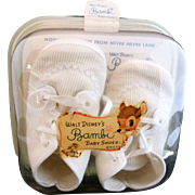 1950's Walt Disney's Bambi Baby Shoes ~ Never used in original package