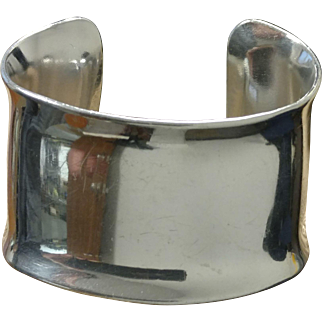 Vintage Signed Chris Den Blaker Aluminum Cuff Bracelet
