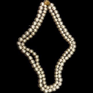 Vintage Miriam Haskell Baroque Beaded Necklace