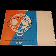 1964 New York World's Fair Pop Up Map