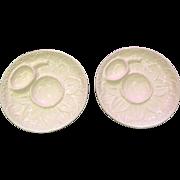 Portuguese Pottery Artichoke Serving Plates