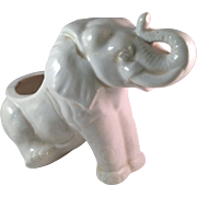 Vintage California Pottery White Elephant Planter USA