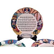 Vintage Sarreguemines Chansons et Rondes de France Rhymes Plates (7)