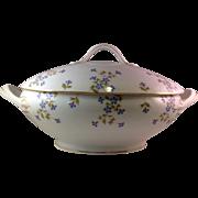 Antique Limoges Tressemann & Vogt Longchamps Oval Soup Turine