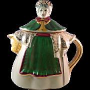 Vintage Shawnee Pottery Granny Ann Rare Gilt Teapot