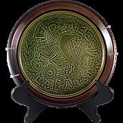 Vintage K.M. Israel Pottery Peace Plate