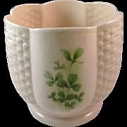 Vintage Irish Papian Donegal China Shamrocks Cache Pot