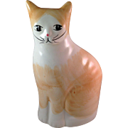 Vintage UCGC Taiwan Orange Sitting Kitty Bank