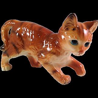 Vintage Made in Japan Porcelain Tabby Cat