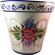 Portuguese Pottery RCCL Hand Painted Large Wall Pocket Vase