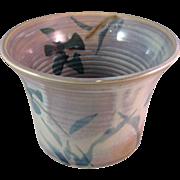 Vintage 1980's Studio Art Pottery Signed Pot