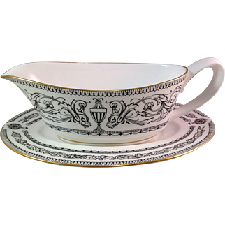 Vintage Royal Worcester Padua Gravy Boat and Plate