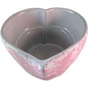 Bennington Pottery Heart Shaped Oven Crock