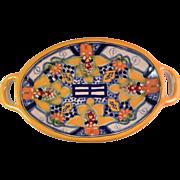Vintage Talavera La Corona Mexican Pottery Tray