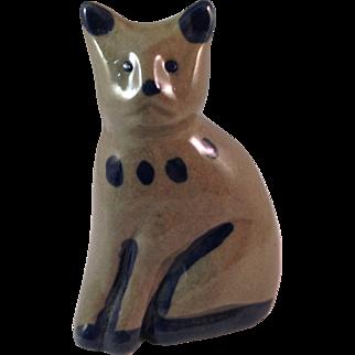 Studio Art Pottery Cat Figurine
