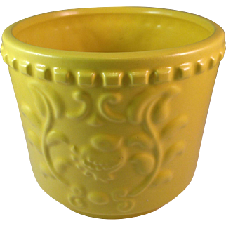 Vintage, Mid Century, Haeger Pottery Lemon Yellow Planter