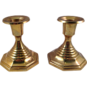 Vintage Solid Brass Candle Stick Holders made in India