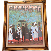 Ida Jackson Print on Canvas Funeral Procession