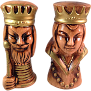 Vintage Tilso Made in Japan King and Queen Salt and Pepper Shakers