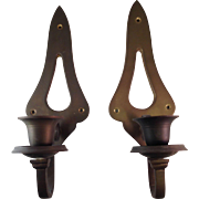 Vintage Solid Brass Candle Wall Sconces Made in India