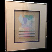 Original C. Dunlap Signed Mixed Media Abstract Wall Art Jazz I