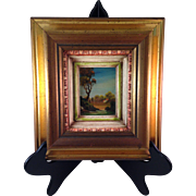 Vintage Italian Original Mini Framed Oil on Board