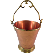 Handcrafted in India Copper and Brass Pail