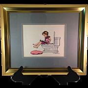Vintage Original Tom Paul Fox Illustration 1984