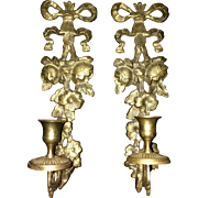 Vintage Solid Brass Wall Sconces Made in India