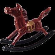 Vintage Taiwan Cast Iron Rocking Horse Door Stopper