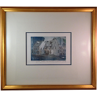 Alain Lacaze Original Aquatint Engraving 243/300