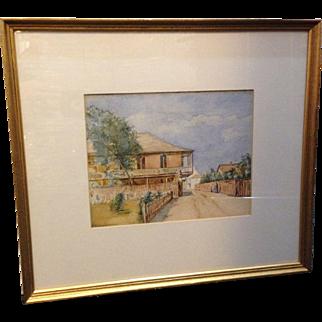 Antique William Staples Drown Original Watercolor