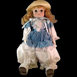 Vintage 1986 Brinn's Bloomer Girl Musical Doll