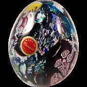 Vintage Mid Century Murano Glass Egg