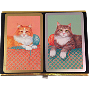 Vintage Congress Cat Playing Card Set
