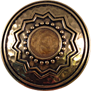 Trifari 1980's Vintage Ethnic Shield Pin