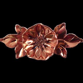 Vintage Gret Barkin Hand Wrought Copper Brooch