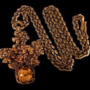 Mid Century Pentti Sarpaneva Brutalist Bronze Necklace