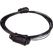 Vintage Fancy Woven Double Knot Elephant Hair African Bangle Bracelet