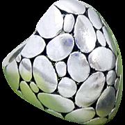 Vintage Sterling Silver Kali Dot Domed Archer Ring