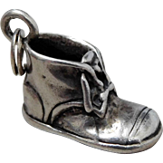 Vintage Sterling Silver 3D Baby Shoe Charm