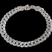 Vintage Italian Sterling Silver Starter Charm Bracelet