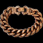 Vintage Renoir Solid Copper Curb Link Bracelet