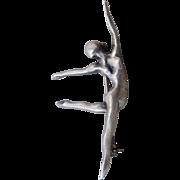 Vintage Sterling Silver Graceful Dancer Brooch