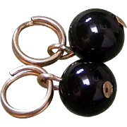 14K Solid Gold & Onyx Earring Enhancer Charms