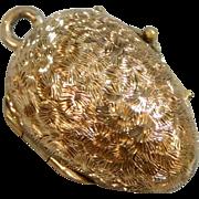 Antique Rose Gold Filled Victorian Easter Egg Locket Charm